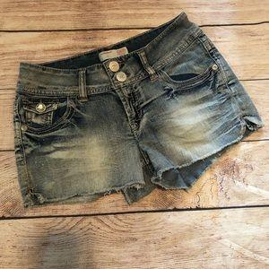 No Boundaries Juniors Acid Wash Shorts